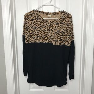 PINK Victoria's Secret Cheetah Long Sleeve Shirt